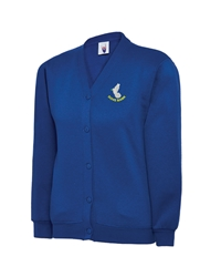 Royal Blue Embroidered Cardigan