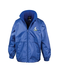 Royal Blue Embroidered Fleece Lined Jacket