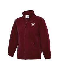 Maroon Embroidered Fleece