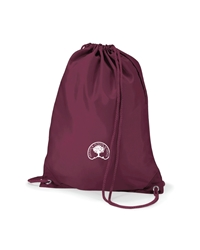 Maroon Embroidered P.E Bag