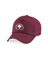 Maroon Embroidered Junior Cap