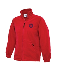 Red Embroidered Fleece