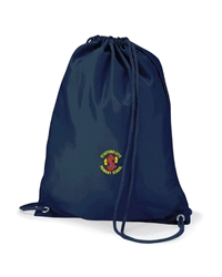 Navy Embroidered P.E Bag