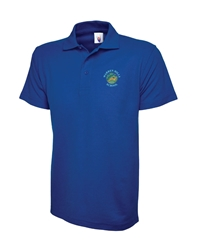 Royal Blue Embroidered Polo Shirt