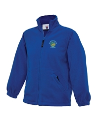 Royal Blue Embroidered Fleece