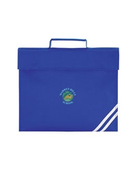 Royal Blue Embroidered Book Bag