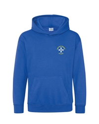 Royal Blue Embroidered Hoodie