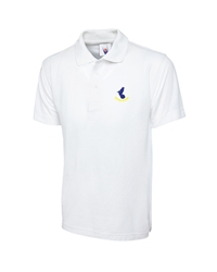 White Embroidered Polo Shirt
