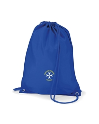 Royal Blue Embroidered P.E Bag