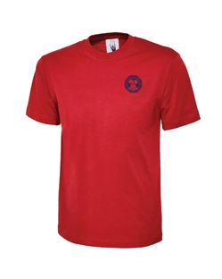 Red Embroidered T-Shirt
