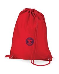 Red Embroidered P.E Bag