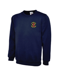 Navy Embroidered Sweatshirt