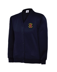 Navy Embroidered Cardigan