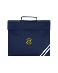 Navy Embroidered Book Bag