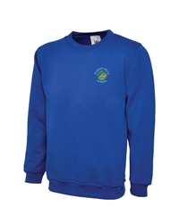 Royal Blue Embroidered Sweatshirt